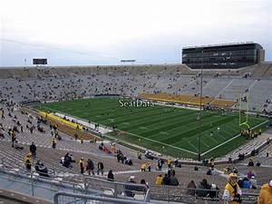 Notre Dame Stadium Row Chart Notre Dame Stadium Section 105 Rateyourseats Com