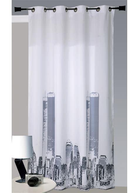 voilage chambre ado rideau en bachette imprimé york blanc homemaison