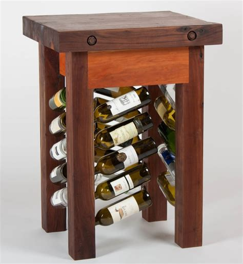wine rack furniture black walnut wine rack butcher s block