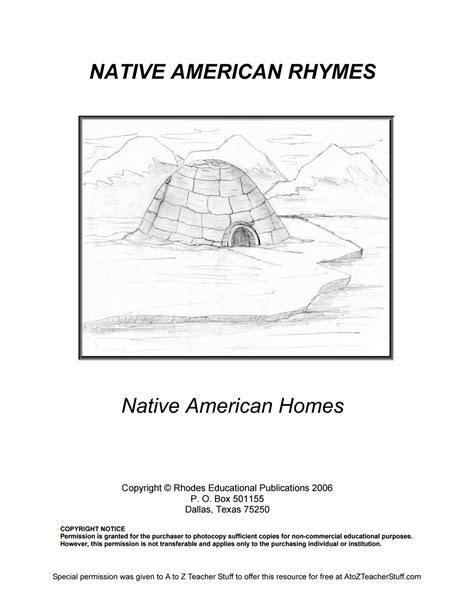 Native American Rhymes Printable Resources  A To Z Teacher Stuff Printable Pages And Worksheets