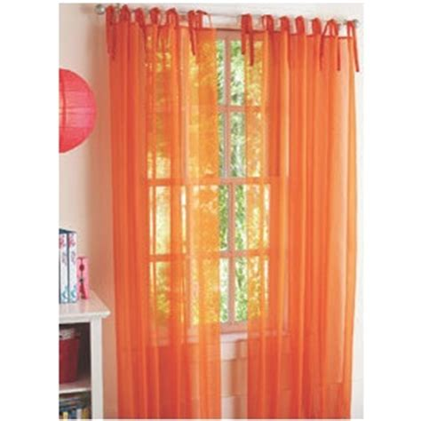Orange Sheer Curtains Walmart sheer orange curtains walmart home ideas