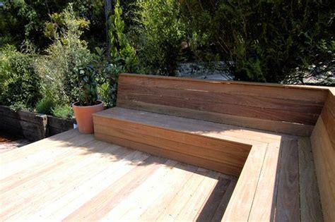 banquette en bois exterieur recherche deco maison banc bois montage et