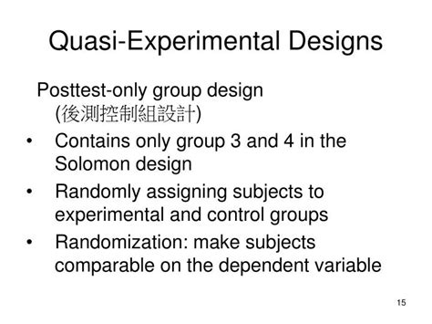 quasi experimental design ppt experimental research 實驗法 powerpoint