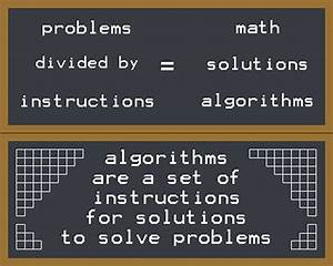 Problems Divided By Instructions Equals Solutions Math