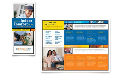 heating air conditioning brochure template word