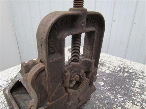 Crane Nye Tool Works Vintage Pipe Vise Antique Stand Old