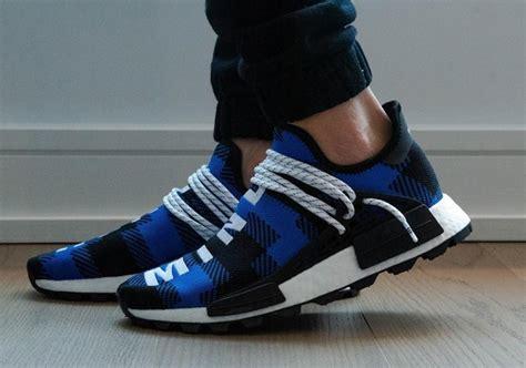 bbc adidas nmd hu flannel blue black  desempacados