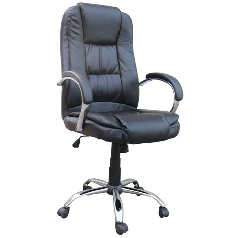 Office Desk Chairs by Homegear Pu Leather Executive Wheeled Computer Desk Chair