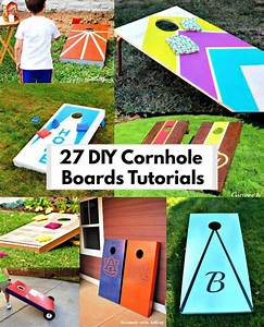 27, Diy, Cornhole, Boards, To, Build, One, For, This, Summer, U22c6, Diy