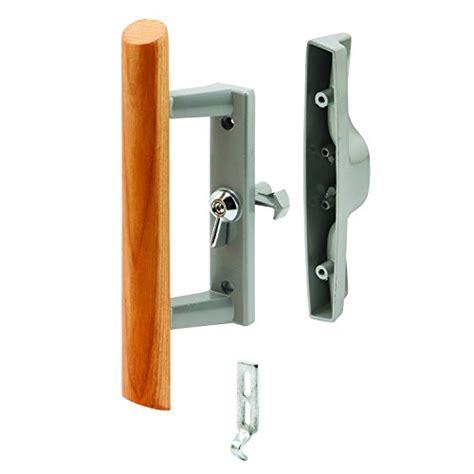 sliding patio door handle set locking hook style