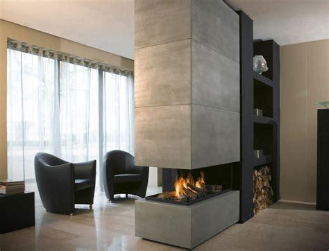 Modernes Wohnzimmer Mit Kamin by Kamine Aus Beton Ein Attraktives Aussehen Und Stil
