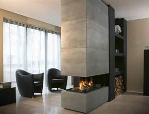 Kamin Im Wohnzimmer : kamine aus beton ein attraktives aussehen und stil ~ Michelbontemps.com Haus und Dekorationen