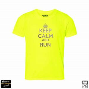 tshirt reflective lettering keep calm and run ahead With reflective lettering for shirts