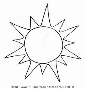 cute free black and white sun clipart - Clipground