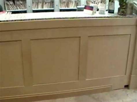 build a reception desk reception desk panels started youtube