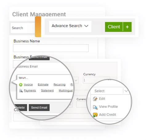 manage clients vendors    dashboard