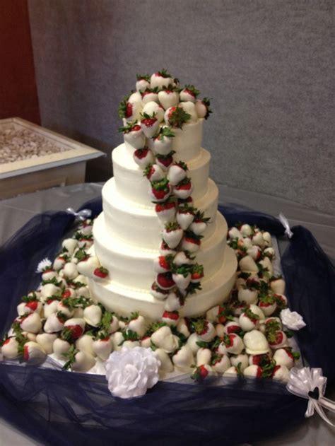 chocolate covered strawberry wedding cake   justine