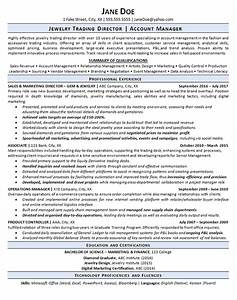 Resume Education Section Jewelry Trading Jeweler Resume Example