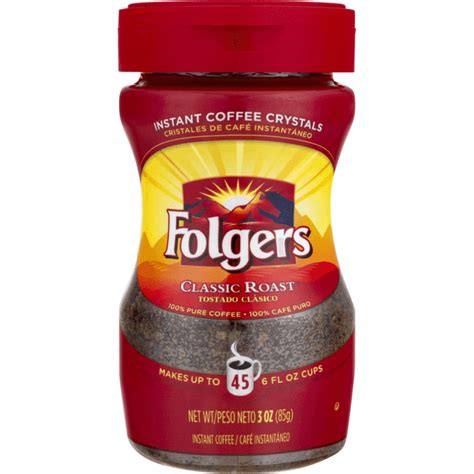 Made from mountain grown beans, the world's richest and most aromatic. Folgers Classic Roast Instant Coffee Crystals, 8 Ounces - Coffee Wholesale USA