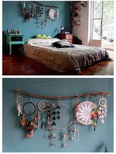 Dream catcher decor over bed or headboard , bohemian hype ...
