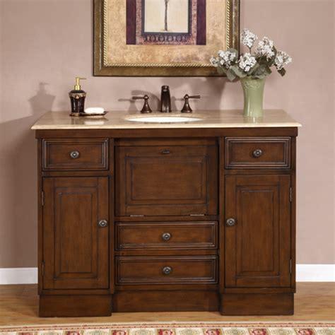 single bathroom vanity   walnut finish uvsr