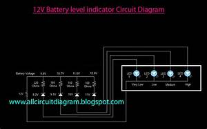 12v Battery Level Indicator Circuit Diagram