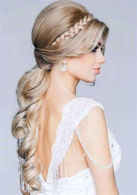 bridal hairstyles  long hair  women styles hairstyles makeup tutorials fashion