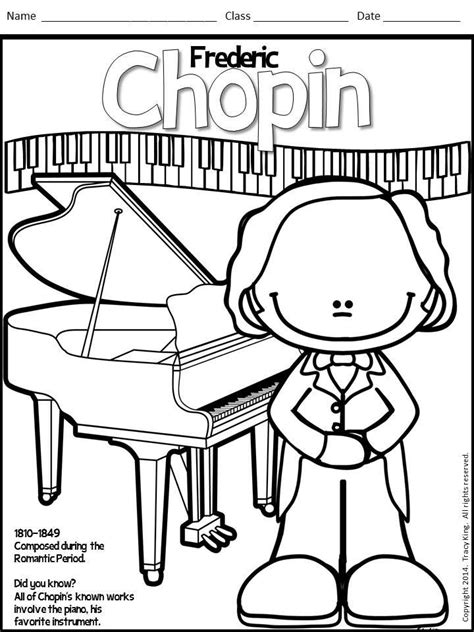 Coloring Pages by Meet The Composers Set Of 12 Coloring Sheets Coloring