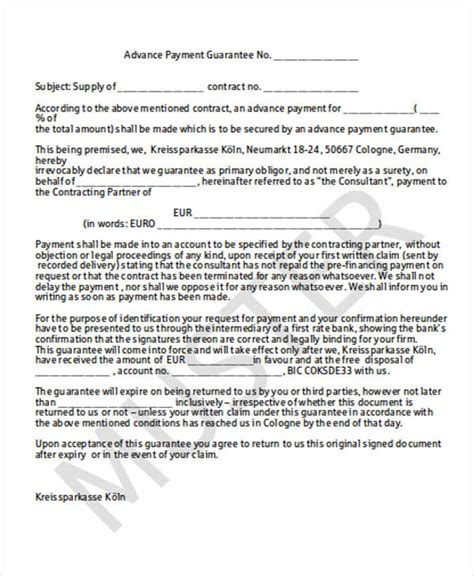 payment contract samples templates