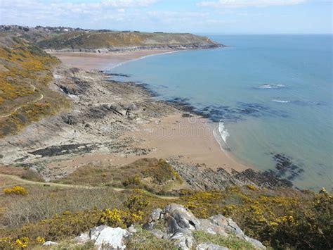 Swansea Bay Tidal Flats Stock Photo Image Port