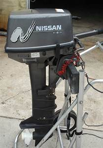 Used Nissan 8 Hp Outboard Motor Long Shaft 20  U0026quot   Nissan