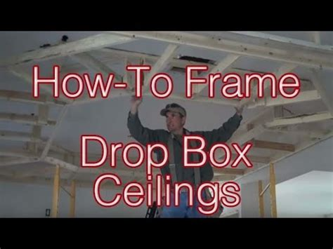 frame drop box ceilings home renovation tips youtube