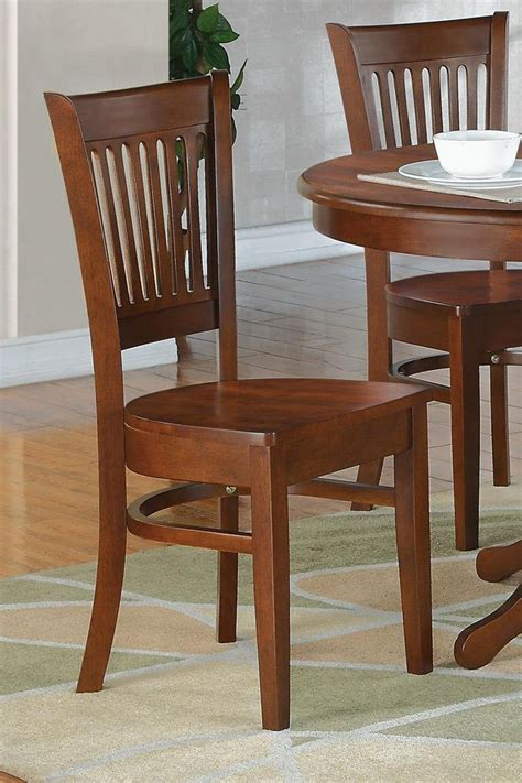 set of 2 sturdy dinette kitchen dining chairs w plain