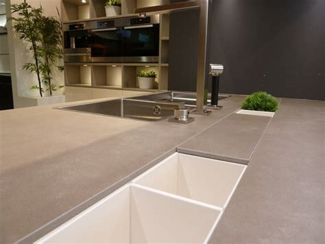 neolith cement contemporary kitchen boston