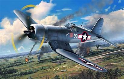 Corsair F4u Ww2 Vought War Airplane Aviation
