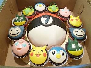 pokemon cake and cupcake