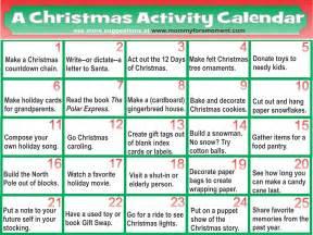 christmas activity calendar calendar template 2016