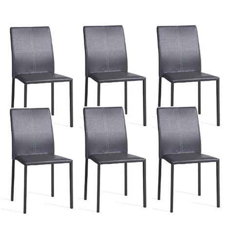 lot de 6 chaises grises lot de 6 chaises quot elvio quot gris