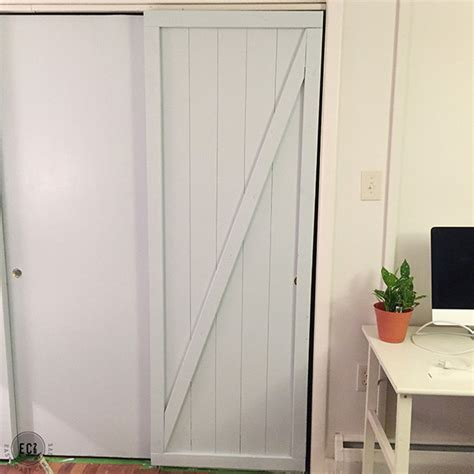 hollow door makeover diy faux barn doors hollow door makeover east