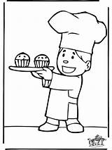 Baker Boulanger Coloriage Template Advertisement Imprimer Funnycoloring sketch template