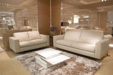 Contemporary Leather Sofa by Grey Leather 3 2 Seater Natuzzi Editions B845