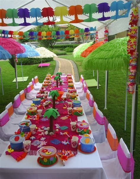 Kids Luau Party Ideas From Purpletrail  Tropical Birthday