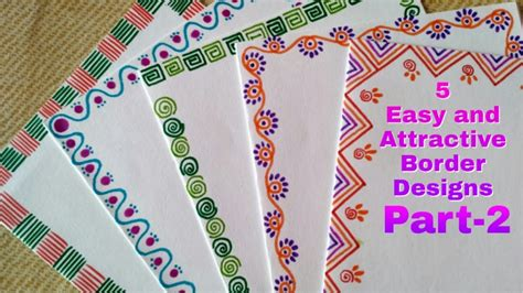 easy  attractive border designs  greeting cards