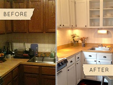 apartment kitchen ideas before after a drab kitchen gets a one day makeover Rental