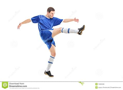 A soccer player shooting stock image. Image of person ...