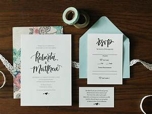 whimsical hand lettered wedding invitations With hand lettered invitations