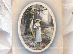 Lot De Cadre : lot de 2 anciennes cartes cadre de dessins de femme le grenier de lisette ~ Teatrodelosmanantiales.com Idées de Décoration