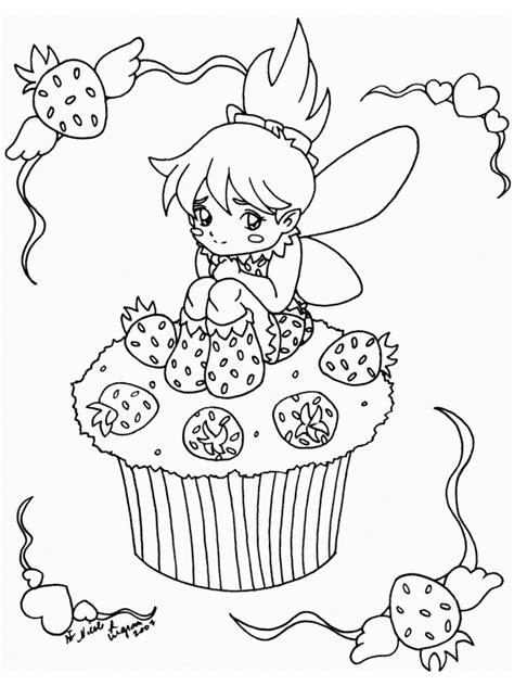 Kleurplaat Een Paar Meiden Starbery Schortcake by Cupcake Aardbeien Fee Kleurplaat Aarbeienpop