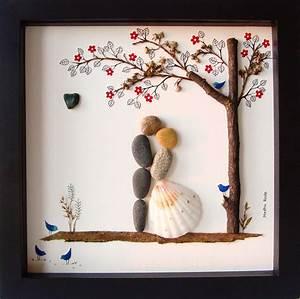 unique wedding gift customized wedding gift pebble art unique With fun wedding gift ideas