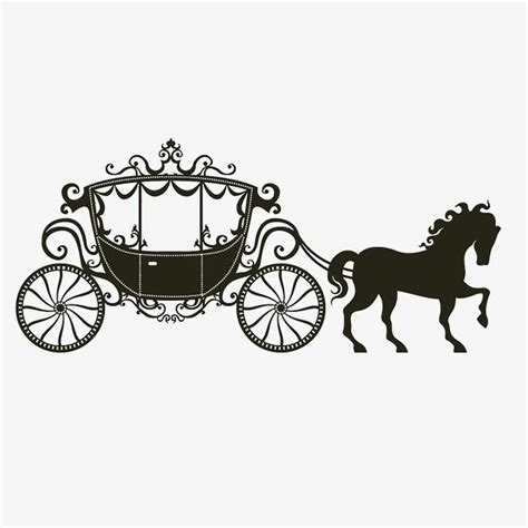 carriage vector black  white png transparent clipart
